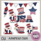 CU - American Sam Clip Art Stickers