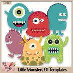Little Monsters 01 - Layered Templates - CU