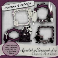 Creatures of the Night - Cluster Frame Pack