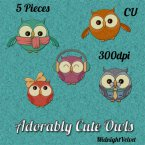 Adorable Cute Owl Element set