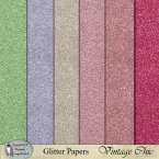 Vintage Chic Glitter Papers
