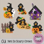 CU - Not So Scary Crows Clip Art