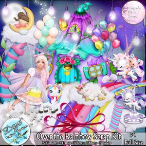 OVER THE RAINBOW SCRAP KIT - FULL SIZE