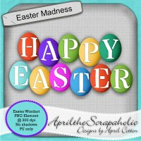 Easter Madness - Wordart