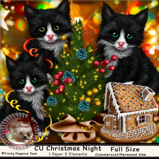 DC_CU Christmas Night (Cats) - Click Image to Close