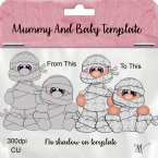 Mummy and Baby Template