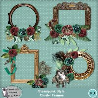 Steampunk Style Cluster Frames