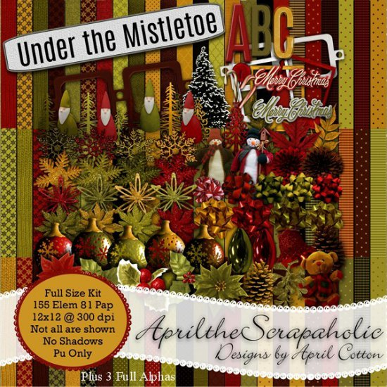 Under the Mistletoe - Full Size kit - Click Image to Close