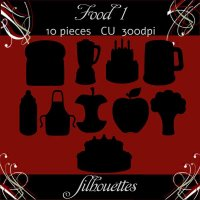 Food 1 Silhouettes