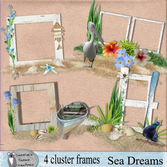 Sea Dreams Cluster Frames - Click Image to Close