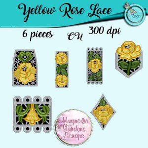 Yellow Rose Lace elements