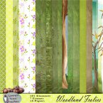 Woodland Frolics Glitter Papers
