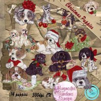 Christmas Puppies element pack