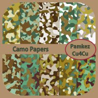 Camo Patterned Papers