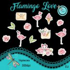 Flamingo Love Element Pack