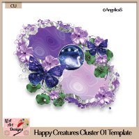 Happy Creatures 01 - Layered Template - CU