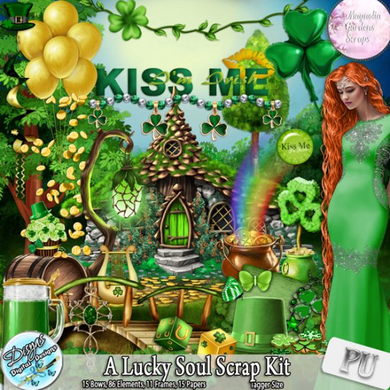 A LUCKY SOUL SCRAP KIT - TAGGER SIZE - Click Image to Close
