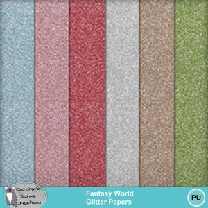Fantasy World Glitter Papers