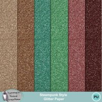 Steampunk Style Glitter Papers