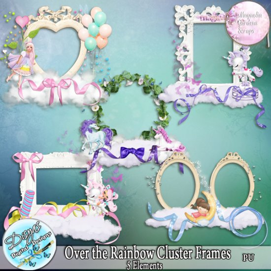 OVER THE RAINBOW CLUSTER FRAMES - FULL SIZE - Click Image to Close