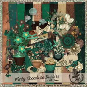 Minty Chocolate Bubbles