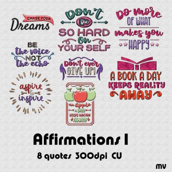 Affirmations 1 Word Art - Click Image to Close