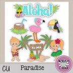 CU - Paradise Clip Art Stickers