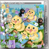 GJ-CU Happy Easter Ducks 3 FS