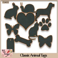 Classic Animal Tags - CU4CU