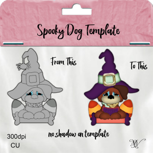 Spooky Dog Template