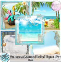 SUMMER ADVENTURE STACKED PAPERS - FULL SIZE