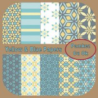 Blue & Yellow Patterned Papers