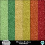 Christmas Creatures Glitter papers
